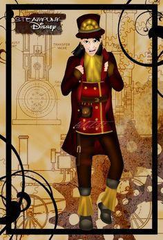 Next in my disney/steampunk collection. Like Tink, I had to work with Pocahontas' limited clothing, so getting the steampunk across her involved giving . Heros Disney, Disney Go, Arte Disney, Disney Villains, Disney Style, Disney Magic, Disney Movies, Disney Pixar, Disney Characters