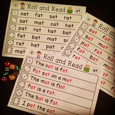 for Building Reading Fluency Word families center that kids love - roll and read!Word families center that kids love - roll and read! Word Family Activities, Phonics Activities, Reading Activities, Kindergarten Language Arts, Kindergarten Literacy, Preschool, Phonics Reading, Teaching Reading, Guided Reading