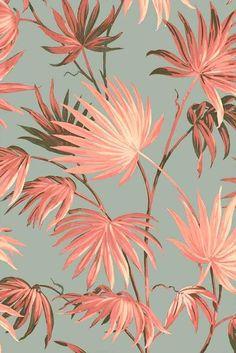 walls Va Va Frome Blush Eau De Nil Wallpaper by Pearl Lowe