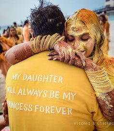Father-Daughter Duo For Haldi Ceremony <br> Check some interesting Haldi Ceremony significance and facts that are known by rare persons. Here we have also mentioned the reasons of putting turmeric on the faces of bride & groom. Best Father Daughter Songs, Daddy Daughter Photos, Father Of The Bride, Indian Wedding Photography, Candid Photography, Father Daughter Photography, Daddys Little Princess, Top Wedding Trends, Haldi Ceremony