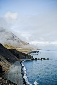 Road to Höfn, Iceland #travel #travelinspiration #sea #seaside #holidays