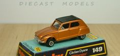 Dinky Toy Citroen Dyanne. This diecast model was produced between 1971 and 1973.
