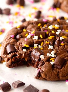 Giant chocolate peanut butter cookies.