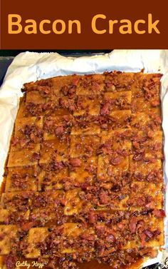 Bacon Crack. A.K.A Bacon Saltine Cracker Candy. If you've never tried this you're missing out! Oh boy! The brown sugar against the saltiness of the bacon, and the combination with the caramel. Gosh! This is an easy recipe, and well... simply delicious! This recipe has been generously shared by Cathy Kopp.  Cathy's also kindly added a few notes and tips along the way so everyone can make this! Prep Time: 10 minutes Cook Time: 5 minutes Serves: 16 inch x 11 inch tray Ingredients: 1 1/2 sleeves…