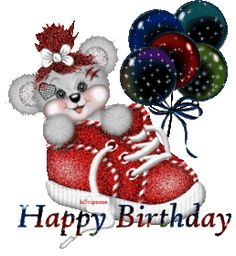 Bear inside a shoe with balloons image: Happy Birthday! - ツ Happy Birthday 4 You: Pictures, Images & Gifs ツ Happy Birthday Betty Boop, Happy 21st Birthday, Birthday Gifts For Teens, Birthday Love, Birthday Gifs, Funny Birthday, Happy Birthday Celebration, Birthday Wishes Cards, Happy Birthday Greetings