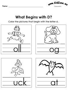 Worksheets Kidzone Worksheets free printable letter worksheets kindergarteners color the pictures beginning sounds
