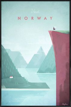 Norway as Poster in Standard Frame by Henry Rivers | JUNIQE