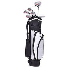 NEW PowerBilt Pink Series Junior Golf Set Driver Iron Wedge Putter Bag 2018    Deals, Sporting Goods   Pinterest d31ad8b1dc50