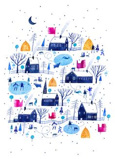 Madeleine Andronic, Christmas Card / KONICA MINOLTA on Behance