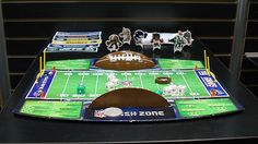 Fan favorite    If you're a football family, you can get little ones in on the action too with the NFL Rush Zone board game from Techno Source. This league-sponsored set features game pieces for each of the 32 National Football League teams and teaches kids the basic rules of the sport. Even better, game play takes 20 to 30 minutes, perfect for half time!