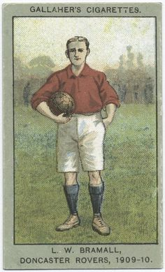 Bramall, Doncaster Rovers, From New York Public Library Digital Collections. Sports Baseball, Soccer, Football, Baseball Cards, Doncaster Rovers, Bristol Rovers, New York Public Library, Vintage Cards, Athletics