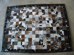 Nguni hide patchwork carpet