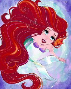 Disney Princess Ariel, Disney Nerd, Princess Art, Disney Fan Art, Goth Disney, Princess Aurora, Disney Disney, Disney Movies, Disney Characters
