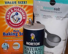 FOOT SOAK - even if you can't soak in a tub, you can get all the benefits from epsom salts this way (sulfur & magnesium)