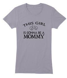 Is Gonna Be A Mommy Slate Women's T-Shirt Front