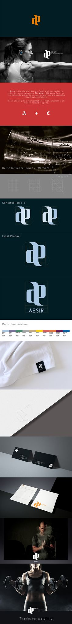Aesir is a clothing company that builds clothes for crossfit. With an influence from the Nordic Gods, Aesir builds weapons of choice that were thought for intense development. Brand Identity, Branding, Clothing Company, Personal Trainer, Behance, Style Inspiration, Logos, Clothes, Ideas