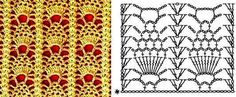 Minidečky - háčkované posbírané   Pineapple pattern - tons of crochet diagrams here! flowers and stitch combinations, check it out!
