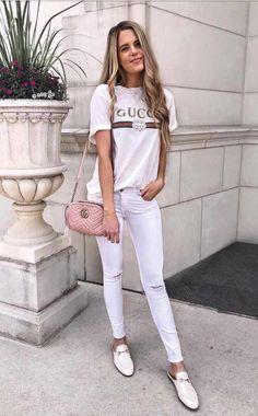 51463fd8f Outfits con Camiseta Blanca • Looks Perfectos para el Verano 2018