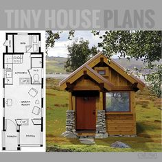 Amazing collection of tiny house floor plans for building your dream home without spending a fortune Shed To Tiny House, Tiny House Cabin, Tiny House Living, Small House Plans, Tiny Cabin Plans, Living In A Shed, Tiny Cabins, Cabins And Cottages, Small Room Design