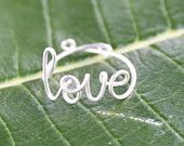 wire 'love' ring sold on Etsy $9.99