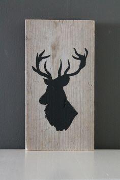 decoratief plankje met hertenkop | Eigen collectie | Tante Jo & Zo