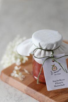 Stachelbeer-Pfirsich-Marmelade