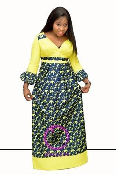 Robe Fyna | Awalebiz Marketplace Latest African Fashion Dresses, African Dresses For Women, African Print Dresses, African Print Fashion, African Attire, Ankara Fashion, Africa Dress, African Traditional Dresses, Mode Style