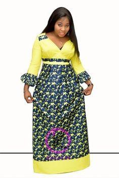 Robe Fyna | Awalebiz Marketplace Short African Dresses, Latest African Fashion Dresses, African Print Dresses, African Print Fashion, Ankara Fashion, Africa Dress, African Traditional Dresses, African Attire, Mode Style