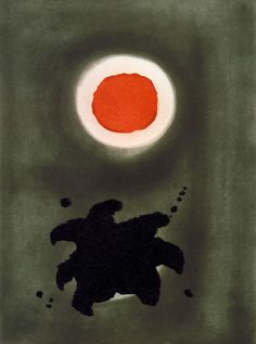 Night Glow; color etching on paper; by Adolph Gottlieb