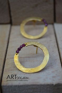 Jewelry | Jewellery | ジュエリー | Bijoux | Gioielli | Joyas | Rings | Bracelets | Necklaces | Earrings | Art | Gold-plated silver earrings at ARTopoiein jewels