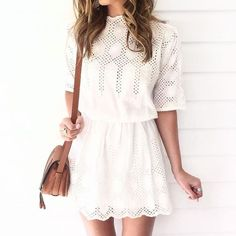 There's nothing better than a little eyelet dress for Spring! // Follow /ShopStyle/ on Instagram for more inspiration.
