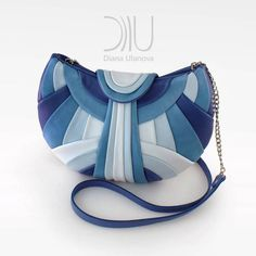 Blue leather clutch designer diana ulanova crossbody gold bag classic... ($380) ❤ liked on Polyvore featuring bags, handbags, clutches, gold clutches, blue evening bag, leather cross body purse, blue leather purse and leather clutches