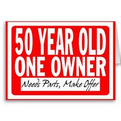 50 Year Old Birthday CardHave Everyone Make A Sign And Hang Around The Lake