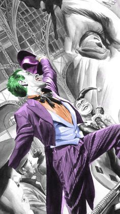 Joker by Alex Ross. Alex Ross, Joker Pics, Joker Art, Joker Comic, Comic Book Villains, Comic Books Art, Jokers Wild, Ghost Rider Marvel, Arte Dc Comics