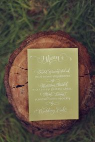 via SMP California Weddings, calligraphy menu from Antiquaria