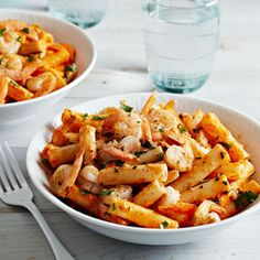 Shrimp and Roasted Red Pepper Ziti - FamilyCircle.com