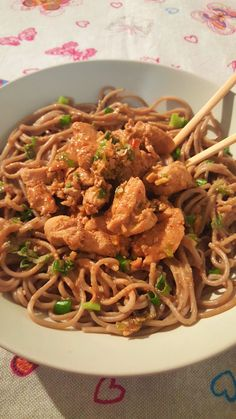 Teriyaki Chicken and Soba Noodles - One Fool Pie Soba Noodles, Teriyaki Chicken, Noodle Recipes, Japchae, The Fool, Pie, Ethnic Recipes, Food, Torte