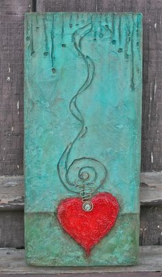 "Heart art. ""Don't Lose Heart"" by Esther Orloff"