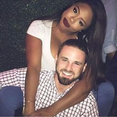 Gorgeous newly engaged interracial couple #love #wmbw #bwwm #swirl