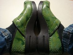 Green Python Dansko Clogs ~ the most comfortable shoes I have ever worn...although they don't have to be green python to be comfy!!