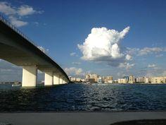 Running under the bridge :) Love Sarasota!