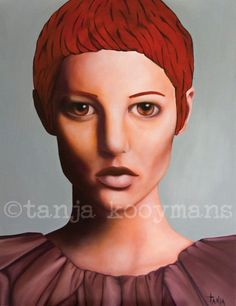 portret  schilderskunst vrouwenportret kunst door TanjaKooymans