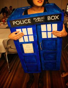 """how to make a tardis costume in 15 hours""- @Kelli Gohn- you can go and match your kids this halloween!"
