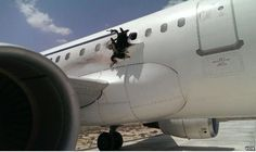 2 February - Daallo Airlines Flight 159, an Airbus A321-111 (SX-BHS). Five minutes after taking off from Mogadishu, Somalia enroute to Djibouti City, there was an explosion aboard, opening a hole in the fuselage behind the R2 door. 2 Injuries were reported, with unconfirmed reports that a burned body fell from the plane, reportedly landing near Balcad town, Somalia. UNDER INVESTIGAITON