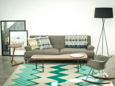 SCP Oscar Three Seater Sofa. Pinned this because I LOVE that rug.