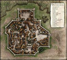 Dnd World Map, Fantasy World Map, Rpg World, Fantasy City, Old Maps, Antique Maps, Village Map, Dungeon Maps, Paris Map