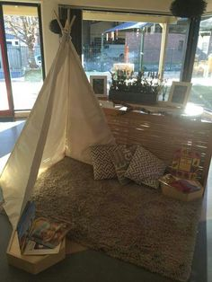 ..so pretty. I wonder if the teepee is easily knocked over.