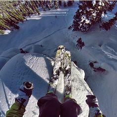 #regram from @prettyfacesmovie @GoPro head cam angle from a super fun air earlier this winter at @retallacklodge @Brett Johnson Fischer @Eddie Persson Bauer #liveyouradventure  #sendit #makeyourownluck #Padgram