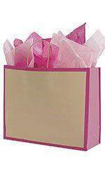 Large Pink Frame Paper Shopper