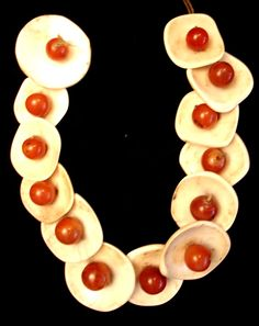 Original shell and carnelian necklace Ao tribe Nagaland (archives sold Singkiang)